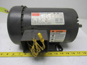 Dayton 3n017h 1hp 3ph 208 220 440v 1725 1425rpm 2 Speed Electric Motor
