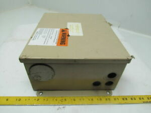 Hoffman 12x10x5 Type 12 13 Electrical Enclosure With Backplate