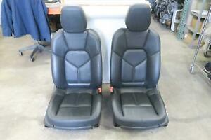 2011 2014 Porsche Cayenne Front Seat Set Bucket Airbag Electric Leather 8 Way Oe
