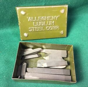 Vintage Allegheny Ludium Steel Tool Bits W Box Machinist Metal Lathe