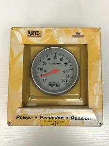Auto Meter 5898 Gauge Tachometer 5 10 000 Rpm In dash Phantom Used