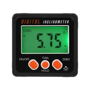 Digital Protractor Inclinometer Angle Finder Bevel Box With Magnet Base C p5