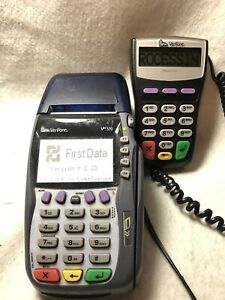 Verifone Vx570 omni 5750 Credit Card Machine Terminal Printer With Remote Pad
