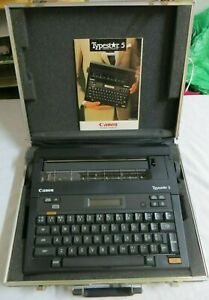 Typewriter Vtg Canon Type Star 5 S 50 Electronic With Manual Vintage