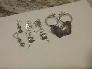 Mixed Lot Of Sterling Silver Jewelry Not Scrap