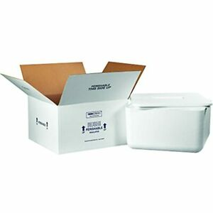Boxes Fast Bf250c Insulated Shipping With Foam Container 17 9 Medium White