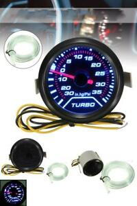 Pressure Psi Turbo Boost Gauge 52mm Meter Face Glowshift Vacuum Smoked Digital