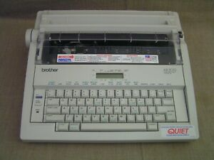 Brother Ax 500 Portable Electric Word Processing Typewriter W cover