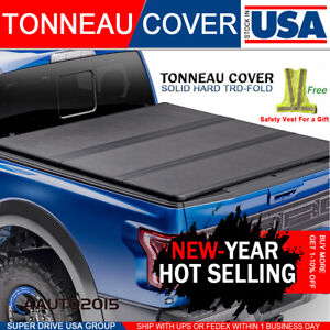 Fits 2004 2014 Ford F 150 Solid Hard Tri Fold Lock Tonneau Cover 6 5ft 78 Bed