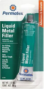 Permatex 25909 Liquid Metal Filler 3 5 Oz