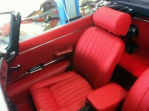 New Jaguar Xke E Type Si Red Leather Seat Cover Made To Original Specification