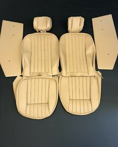 New Jaguar Xke E type S2 S3 Vynil Seat Cover Made To Original Specs Cinnamon