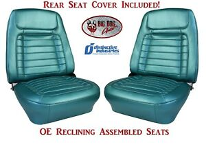 Fully Assembled Oe Reclining Deluxe Seats Rear Seat Upholstery For 1968 Camaro