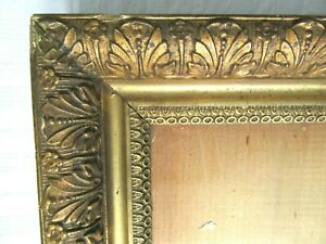 Antique Fits 8 X 10 Gold Picture Frame Wood Gesso Fine Art Ornate Country