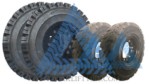 700x12 12x5 6h 600x9 9x4 6h Solid Tire Wheel Assembly 70012 6009 Forklift 4x