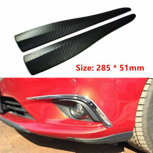 2pc Universal Front Rear Bumper Corner Lip Side Scratch Protector Strap Guard