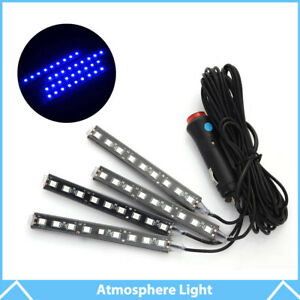 4 9 Led Blue Ambient Styling Kit For Car Interior Decoration Atmosphere Light