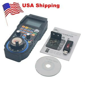 Hot Cnc Mach3 4 Axis Usb Handle Mpg Wireless Electronic Handwheel Controller Us