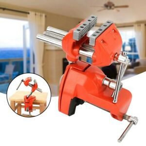 Mini 360 Rotating Clamp Vise Adjustable 70mm Jaw Width Table Workbench Woodwork