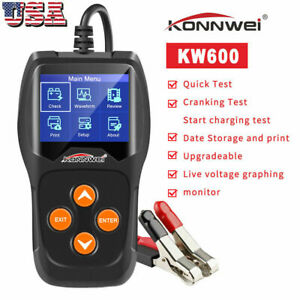Konnwei Kw600 Car Battery Tester 12v Digital Auto Battery Analyzer 2000cca W1v3