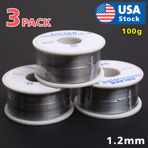 63 37 Tin Lead Rosin Core Flux Solder Wire For Electrical Solderding 1 2mm 300g