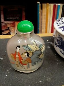 Antique Chinese Snuff Bottles Hand Painted