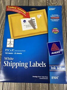 Avery Inkjet White Shipping Labels 8165 150 Labels 3 1 3 X 4
