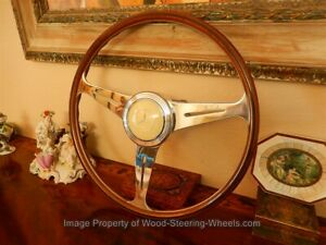 Mercedes 300 Sl Gullwing W198 Steering Wheel Nardi Wood 40 Cm Orig N o s