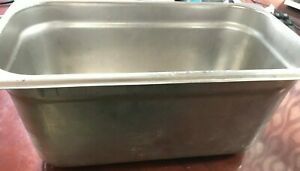 3 Stainless Steel Steam Table Food Pans Buffet Chafing Tray 12 3 4x7x6 Warming