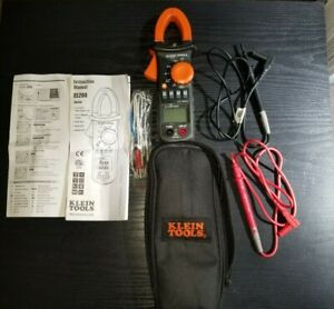 Klein Tools Cl200 600a Ac Digital Clamp Meter W temp W leads 390