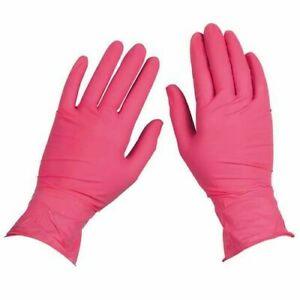 200 box Topquality Nitrile Latex Free Hypoallergenic Medical Gloves Pink Small