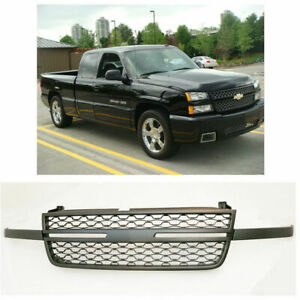 Black Grill Replacement Fit For 05 07 Chevy Silverado 1500 2500hd 3500 Grille