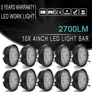 10pcs 4 27w Led Work Light Fog Lamps For Allis Chalmers Tractor D12 D15 D17 160