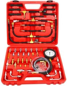 140psi Gas Engine Fuel Injection Pump Injector Tester Dual Scale Pressure Gauge