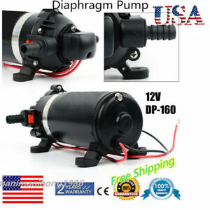 Water Pump 12v Dc 5 1lpm 160psi High Pressure Self priming Diaphragm