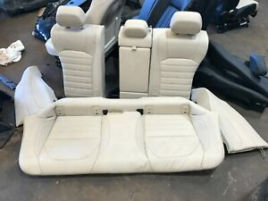 17 18 19 Alfa Romeo Giulia Rear Seat Set Upper Lower Oem Beige