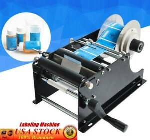 Manual Labeling Bottle Round Machine Packing Machinery By Semi Hand Automatic