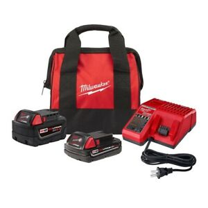 Milwaukee 48 59 1850tp M18 18 volt Lithium ion Starter Kit With One 5 0 Ah And