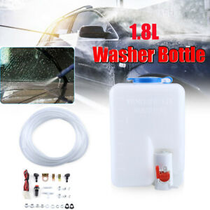 Universal Utv 12v Windshield Washer Bottle Tank Pump Wiper System Reservoir Kit