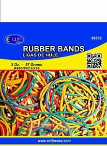 Rubber Bands Assorted Colors Case Pack 96