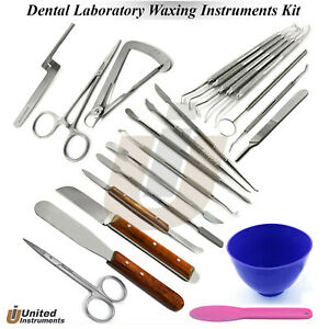 Dental Laboratory Technician Carvers Spatulas Molding Clay Mixing Plaster Knife