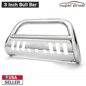 Fits 2006 2008 Dodge Ram 1500 3 Round S S Bull Bar Grill Guard Front Bumper