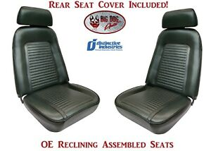 Fully Assembled Oe Reclining Seats Standard Rear Seat Upholstery 1969 Camaro