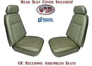 Assembled Deluxe Oe Reclining Seats Rear Seat Cover 1969 Camaro Convertible