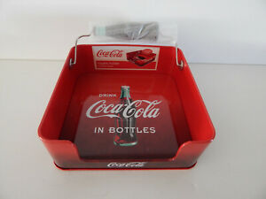 Red Coca Cola Napkin Holder - With Bottle Shaped Weight