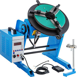 Rotary Welding Positioner Touch Screen 100kg Turntable Table 3 Jaw Lathe Chuck