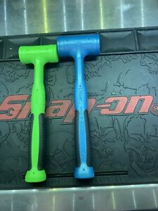 Snap On Dead Blow Hammer Set Hbfe24 Hbfe32 24oz 32oz Teal Blue Extreme Green