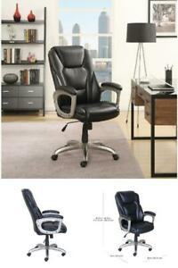 Big Tall Commercial Memory Foam Office Chair Black Serta