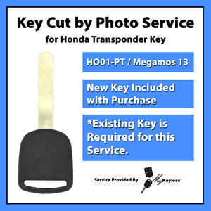 Key Cut By Photo Service For Honda Transponder Key Replacement Ho01 Pt 692247