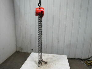 Cm Cyclone Model S 1 Ton Manual Chain Fall Hoist 12 Lift W load Limiter Tested